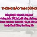 Thông báo tạm dừng đấu giá QSD đất tại xóm Nam Đàn, thôn Mãn Hòa, xã Tân Châu, huyện Khoái Châu, tỉnh Hưng Yên