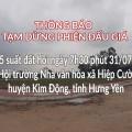Tạm dừng Đấu giá QSD 35 suất đất ngày 31/07/2021 tại xã Hiệp Cường, Kim Động, tỉnh Hưng Yên