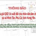 Đấu giá QSD 16 suất đất ngày 20/06/2021 tại xã Minh Tân, Phù Cừ, tỉnh Hưng Yên