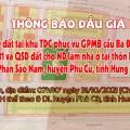 Đấu giá QSD 123 suất đất ngày 31/10/2021 tại TTVH TT và DL huyện Phù Cừ, tỉnh Hưng Yên