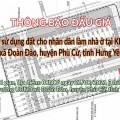 Thông báo Đấu giá tài sản ngày 21 tháng 08 năm 2021 tại xã Đoàn Đào
