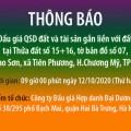 Thông báo bán đấu giá tài sản bảo đảm của NH Agribank - CN Nam Hà Nội