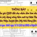 Đấu giá QSD đất ngày 10.10.2020 xã Nghĩa Hiệp (đợt 2) - huyện Yên Mỹ