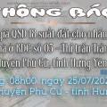 Thông báo Đấu giá tài sản ngày 25 tháng 07 năm 2020 - Khu dân cư số 3 Thị trấn Trần Cao