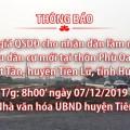 Đấu giá tài sản ngày 07 tháng 12 năm 2019 tại xã Nhật Tân - H.Tiên Lữ