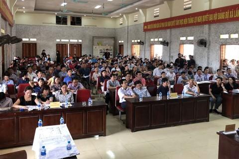 Phiên đấu giá ngày 16 và 17 tháng 05 năm 2020 tại xã Phan Sào Nam và xã Minh Tân