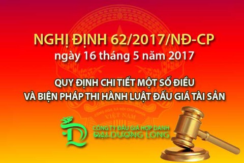 Nghị định 62/2017/NĐ-CP quy định chi tiết một số điều của Luật đấu giá tài sản