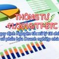 TT 41.2018.TT-BTC về nguyên tắc xử lý tài chính khi cổ phần hóa DNNN